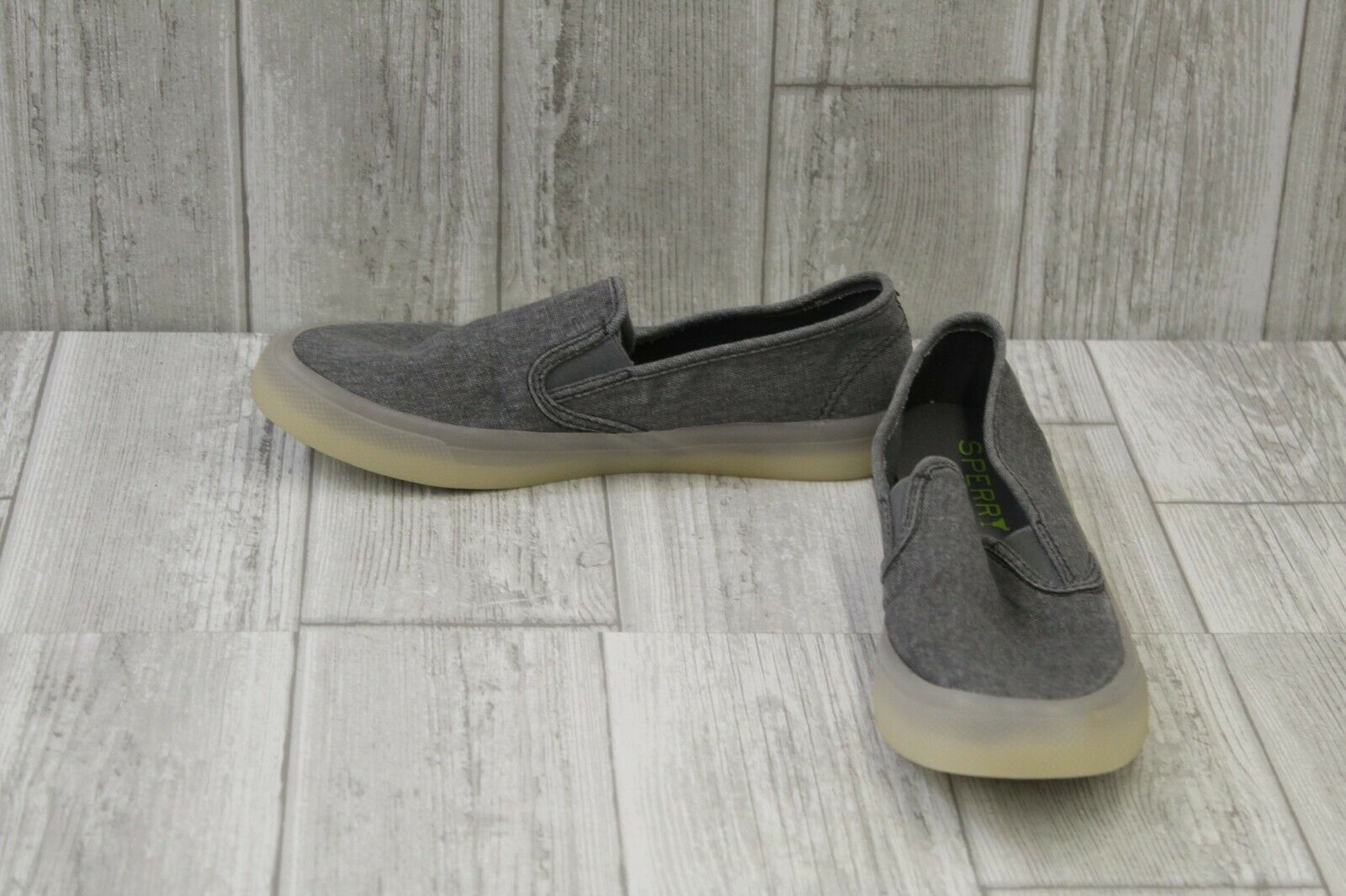 Sperry Seaside Casual Slip On shoes - Women's Size 6.5 M - Grey Washed