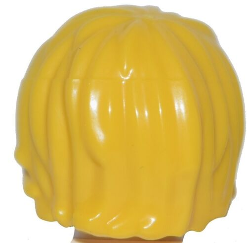 ☀️NEW Lego Minifig Hair Male boy Tousled Yellow BLONDE Side Part Swept