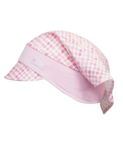 DÖLL® Mädchen Kopftuch mit Schirm Mütze Punkte 47-55 Sommer 2019 NEU!