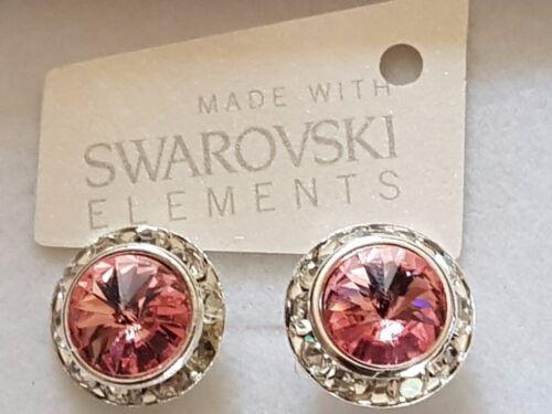 Original Swarovski Elements Cristal Aretes en Caja de Regalo 13mm 10 Colores!