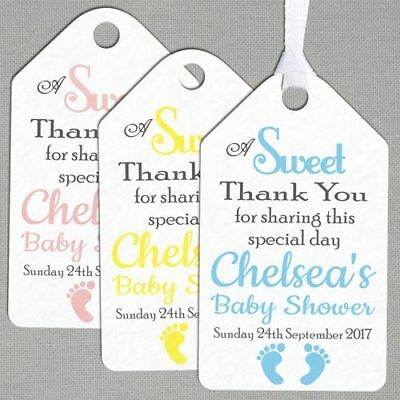 Personalised Baby Shower Christening Stickers Birth Thank You Envelope Seals-221
