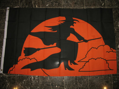 3x5 Halloween Witch Broom Flag 3/'x5/' house banner grommets