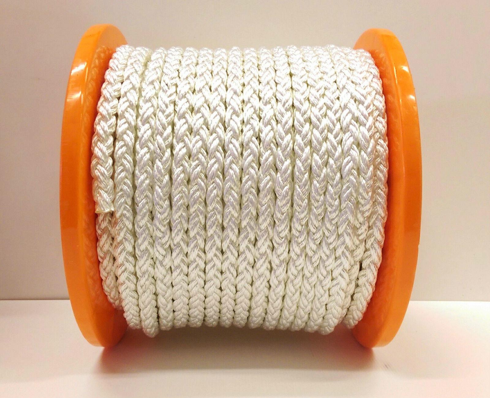 8plait Multiplait Octoplait Polyester Anchor Mooring Rope 100mt Reels 14,16,18mm