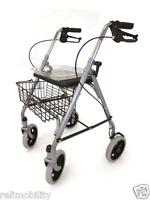 Drive Sr8 Lightweight Height Adjustable Folding Rollator With Basket And Tray
