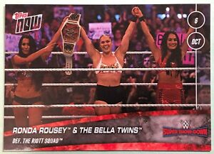 2018-Topps-Now-WWE-58-Super-Showdown-Ronda-Rousey-amp-the-Bella-Twins