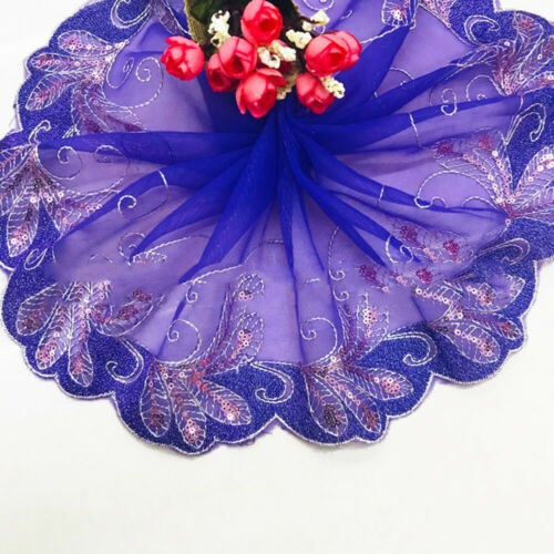 1 Yard Water Soluble Lace Embroidery Mesh Ribbon Trim DIY Doll Dress Accessories