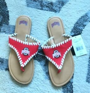 Great Gift NWT $26 Ohio State College Edition Sandals Ladies Size 9