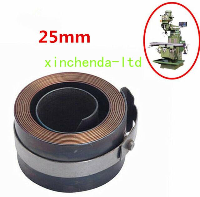Milling Machine Part Spindle Quill Return Clock Spring R8 25mm For Bridgeport