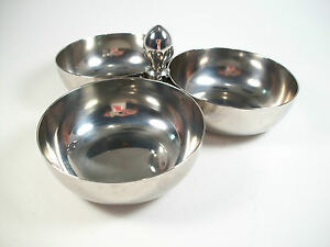 SANT-039-ANDREA-ONEIDA-Mid-Century-Steel-Condiment-Dish-Italy-Circa-1970-039-s