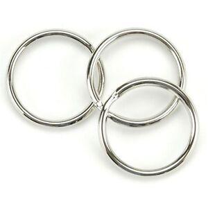 WHOLESALE-1000-500-100-KEY-RINGS-1-034-30mm-20mm-Diameter-Split-Ring