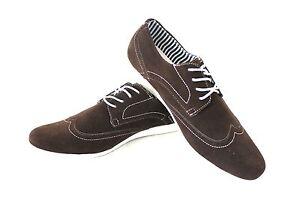 New-Men-039-s-Brown-Coronado-Cody-Shoe-Round-Toe-Suede-Casual-Lace-Up-Denim-Friendly