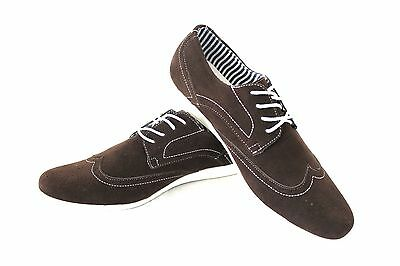 New Men's Brown Coronado Cody Shoe Round Toe Suede Casual Lace Up Denim Friendly
