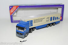 SIKU 3816 KOFFER-SATTELZUG TRUCK WITH TRAILER MERCEDES MAUSER MINT BOXED WERBE