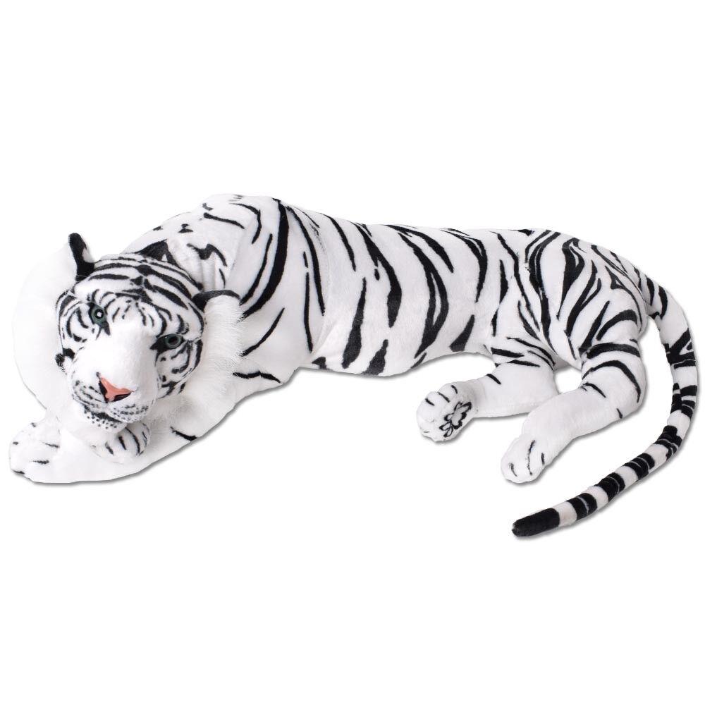 Te-trend XXL peluche ANIMALE TIGRE BIANCO Pupazzo di decorazione 90cm