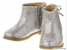 Gymboree ENCHANTED WINTER metallic Silver Booties Boots Girls NWT Size 7