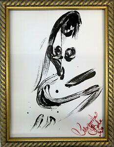 Margarita-Bonke-Malerei-PAINTING-erotic-EROTIK-akt-nu-art-black-white-schwarz-A3