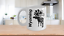 Details about  /Wyoming Moose Mug White Coffee Cup Gift for Cowboy Cheyenne Cody Nordic Folk Art