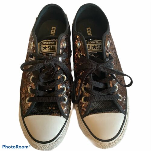 CONVERSE All Star OX GUNMETAL SEQUIN SHOES SNEAKER