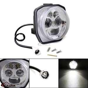 Dirt-Bike-Motorcycle-Chrome-LED-Headlight-For-Yamaha-ATV-GRIZZLY-4WD-HUNTER-2016