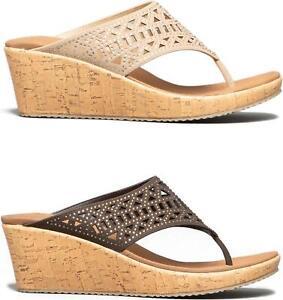 Skechers-BEVERLEE-SUMMER-VISIT-Ladies-Summer-Soft-Upper-Wedge-Heel-Sandals