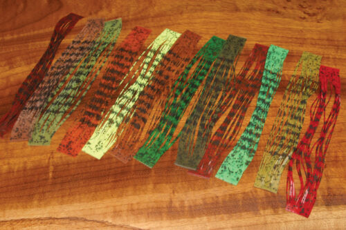 """BARRED /& SPECKLED CRAZY LEGS /""""7 Color 7 Pack Combo/"""" Lot Fly Tying"""