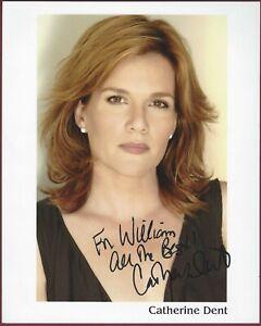 Catherine Dent, Schauspielerin, Signiert 20.3cm x 25.4cm Foto, COA, Uacc Rd