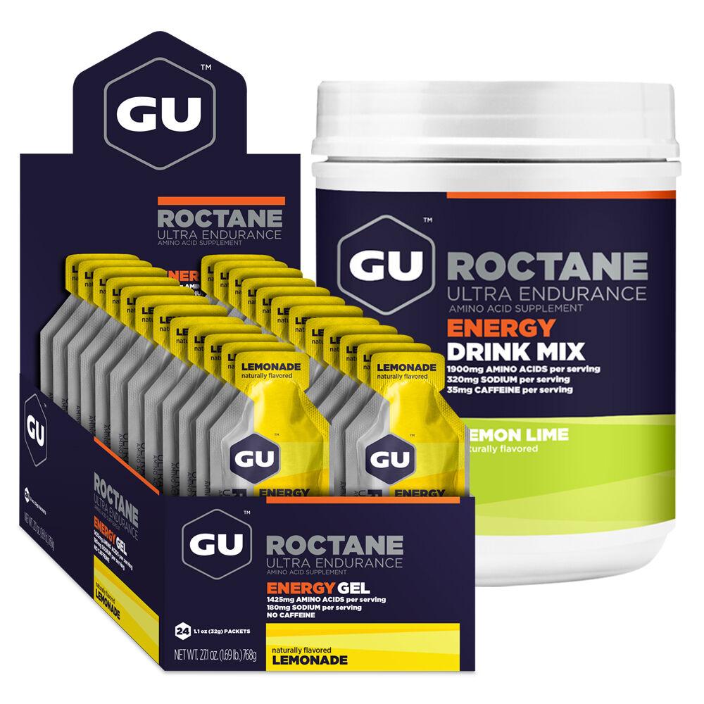 /kg GU ROCTANE Energy Profi Ausdauer Set Gel (24x 32g) + Drink Mix (780g)