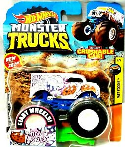 New 2020 Hot Wheels Monster Trucks Milk Monster Monster Jam 1 64 Rare Htf Rare Ebay