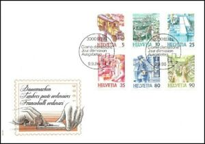 FDC-Suisse-Timbres-poste-ordinaires-9-9-1986