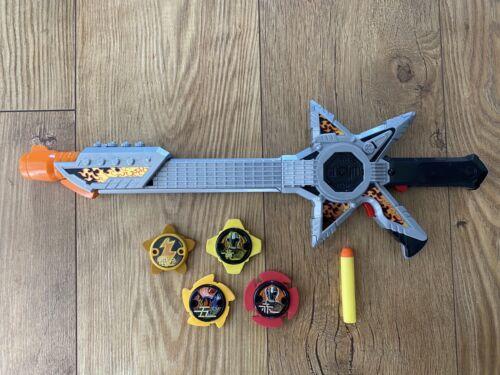 Power Rangers-Ninja Acier Rockstar Guitare épée 4 étoiles /& Dart-LIVRAISON GRATUITE
