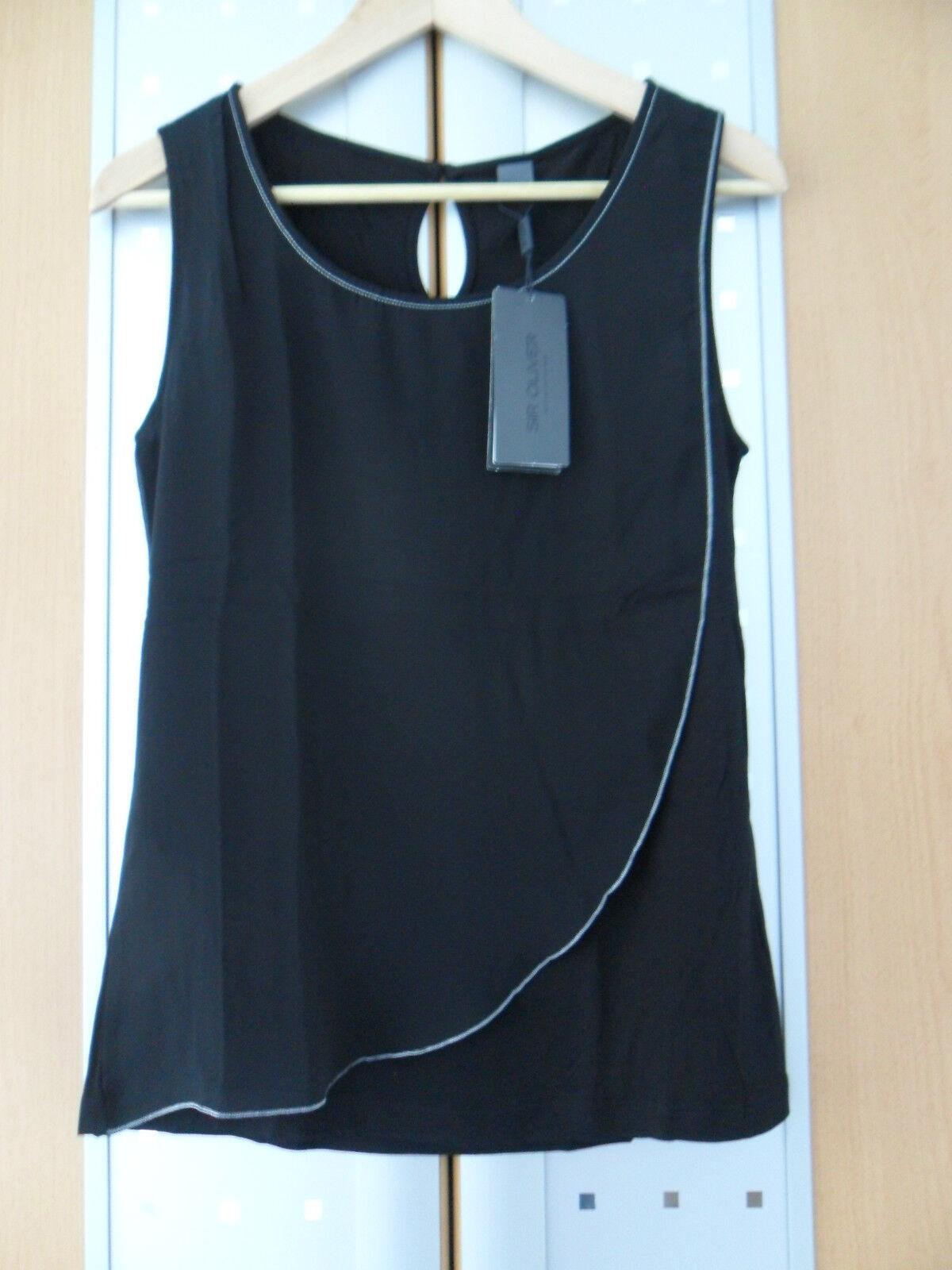 Top, Trägershirt, Blausentop, schwarz, Schwarz, Gr. 34, S.OLIVER, NEU mit Etikett
