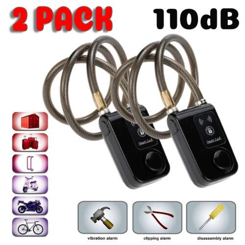 Bluetooth Chain Lock Anti Theft Alarm Keyless APP Control Smart Padlock 110dB BT