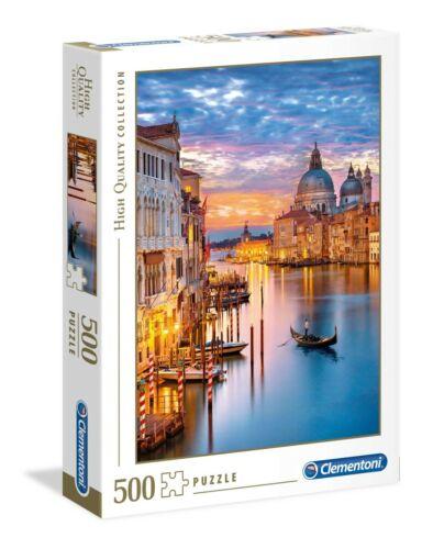 Puzzle Clementoni 500 pezzi Venezia Canal Grande San Marco tramonto cm 49x36