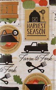 Autumn-Harvest-Season-Farm-to-Fork-Vinyl-Flannel-Back-Tablecloth-Various-Sizes