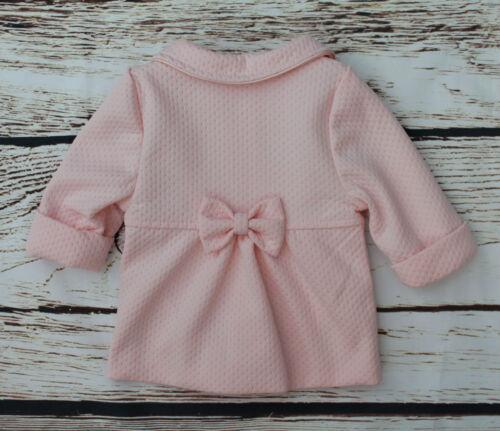 3 ans Bébé fille manteau rose baptême fête élégant veste 0 m
