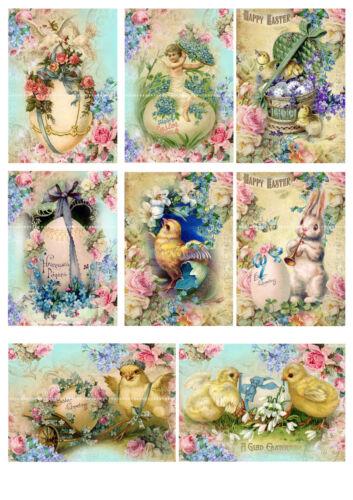 Victoriano Pascua conejos elaboración de tarjetas pollos Scrapbook Tarjeta de Pascua Toppers