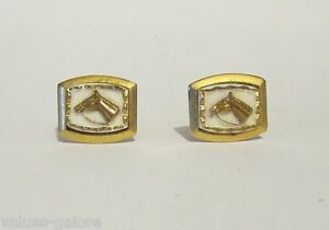 Details about Vintage Sophos Gold Cased Cufflinks With A Horses Head Royal  Army Service Corps