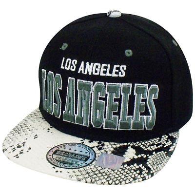 Fanartikel Los Angeles Tier Weißes Schlangenhaut Kunstleder Snapback Hut Kappe California Hell Und Durchscheinend Im Aussehen