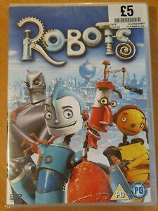 New-amp-Sealed-DVD-ROBOTS-2005-Ewan-McGregor-Halle-Berry-UK-Region-2