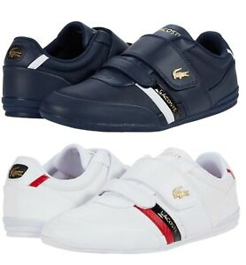 LACOSTE-Misano-Strap-0120-1-Men-039-s-Casual-Leather-Loafer-Shoes-Sneakers-Navy-Wht