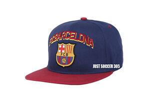 Image is loading Fc-Barcelona-snapback-soccer-hat-cap-official-adjustable- 66c0309bde5