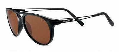 SERENGETI  SUNGLASSES  UDINE BLACK WITH  BLACK  TEMPLES 7758  POLARIZED DRIVER