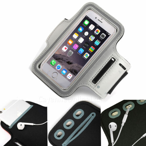 Grey Sports Armband Phone Case Cover Gym Running FOR Oppo Reno Z