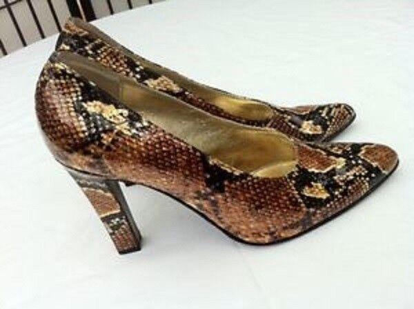 SAURO Pumps, High Heels, 10,5  cm, Lackleder Python Schlange , Gr. 40,