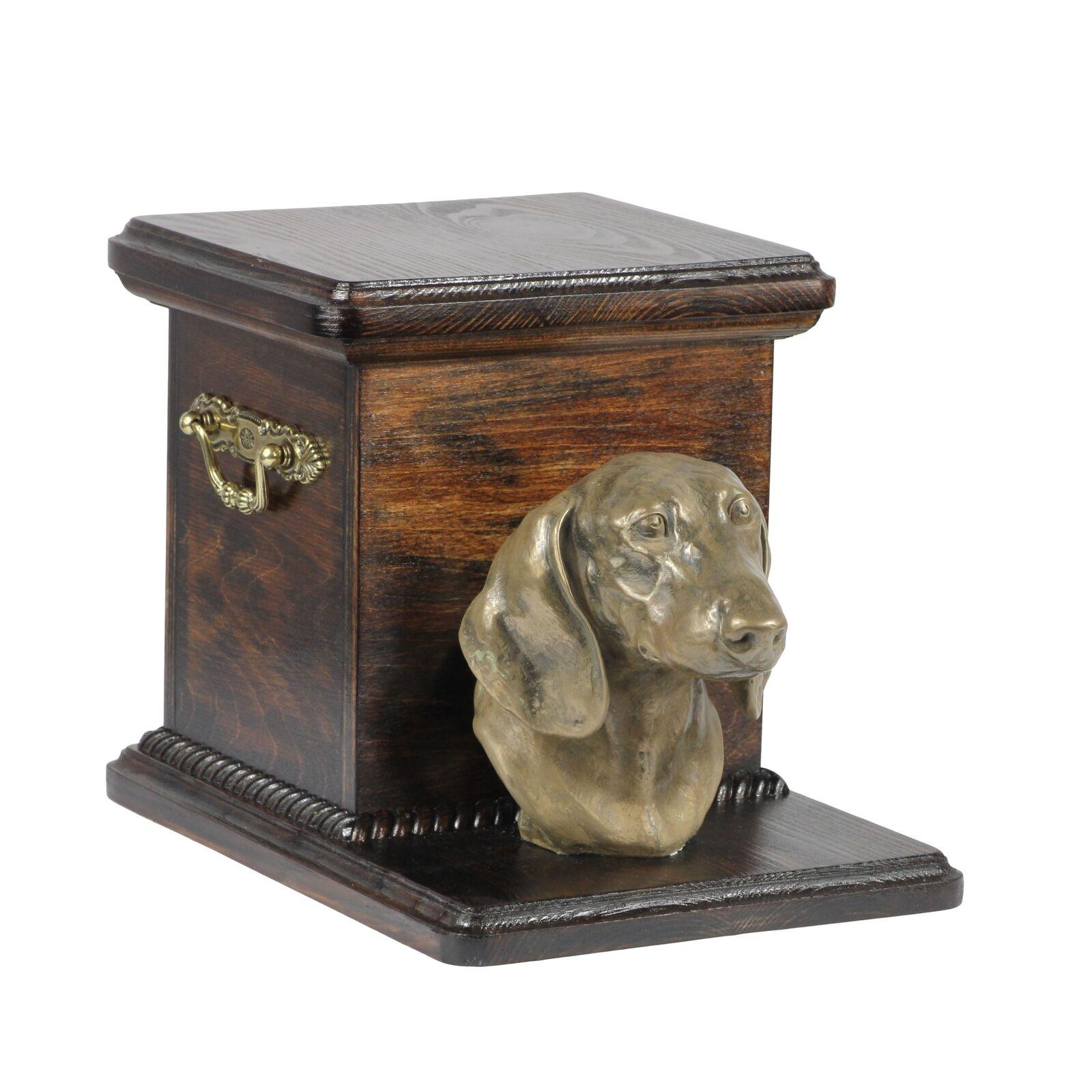 Bassotto - urna di legno con l'immagine di un cane Art Dog IT Tipo 2