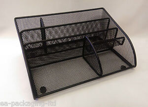 4x-MULTI-FUNCTIONAL-BLACK-MESH-OFFICE-DESK-TIDY-PEN-STAND-STATIONARY-TIDY-SET