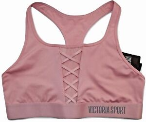 6454dc584cf37 VICTORIA S SECRET VSX Sport Player Racerback Sport Bra Ballet Pink ...