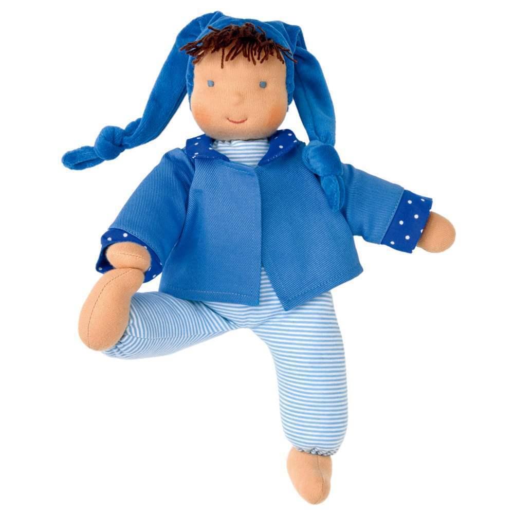 Käthe Kruse Waldorf Puppe Schatzi blau 35cm 0138221 Stoffpuppe