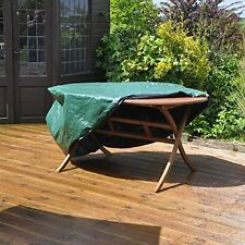 KINGFISHER Large Oval Shape Patio Garden Table Chairs Waterproof Cover Protector