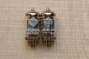 2x Telefunken ECC83 12AX7 PAIR Matched 90% TUBE Valvulas 165 V46 NOS NEW
